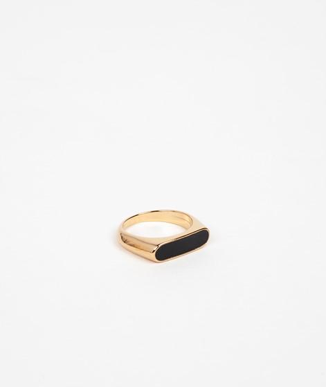 KAUF DICH GLÜCKLICH Emaille-Ring schwarz