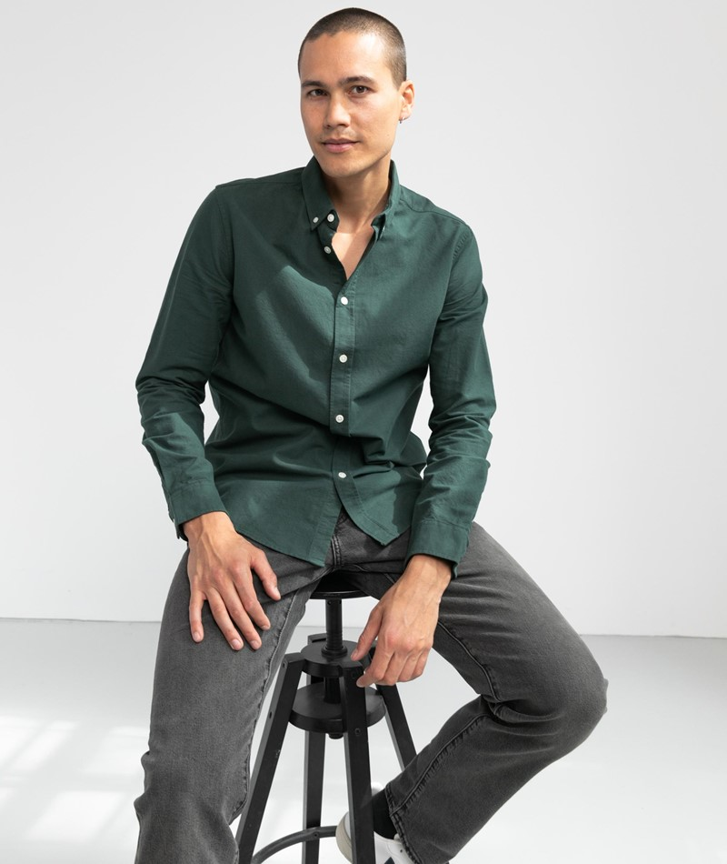 SAMSOE SAMSOE Liam BX Hemd grün