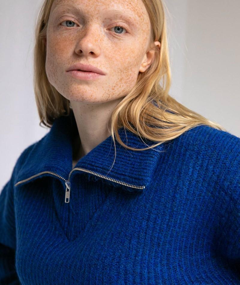 MADS NORGAARD Kinju Pullover blau