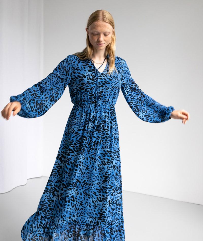 VILA VILeoa L/S Midi Kleid print
