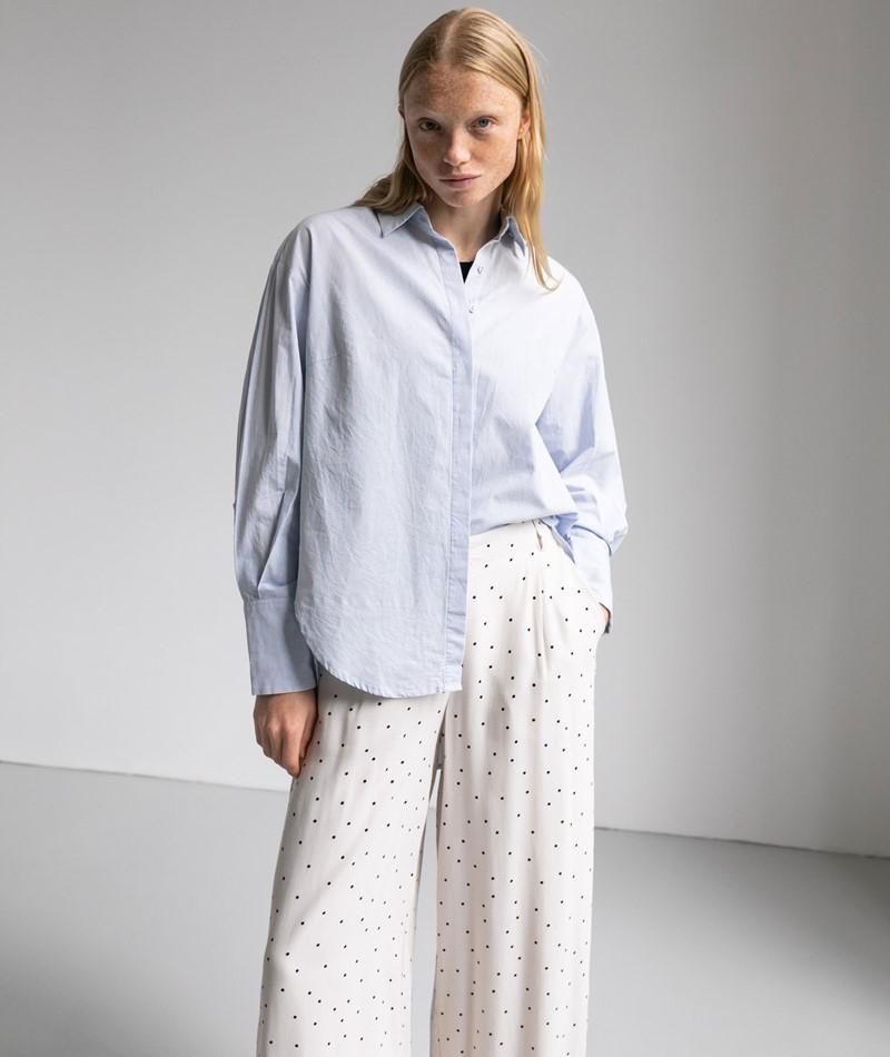 YAS YASHilda Oversize Bluse hellblau