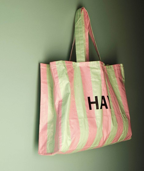 HAY Candy Stripe Shopper green and red