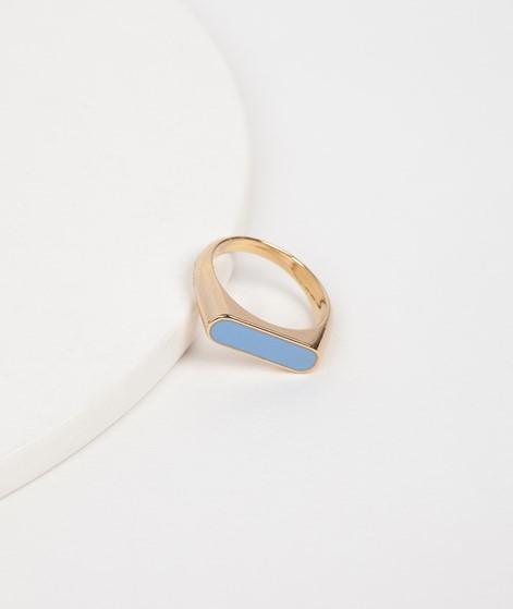 KAUF DICH GLÜCKLICH Emaille-Ring blau