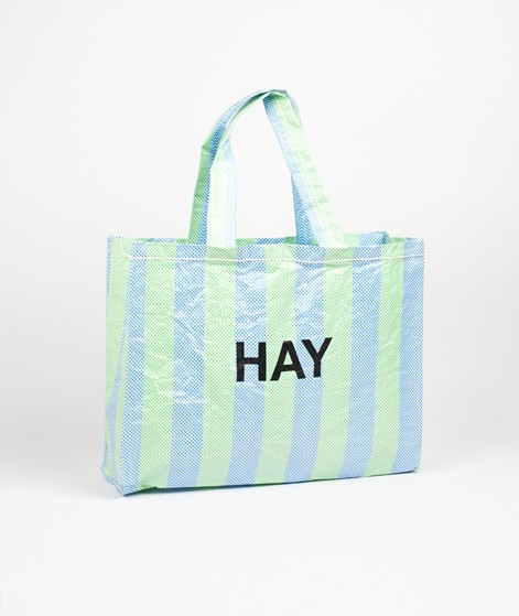 HAY Candy Stripe Shopper blue and green
