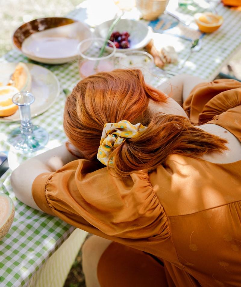 EBBA Extra Big Satin Scrunchie flower