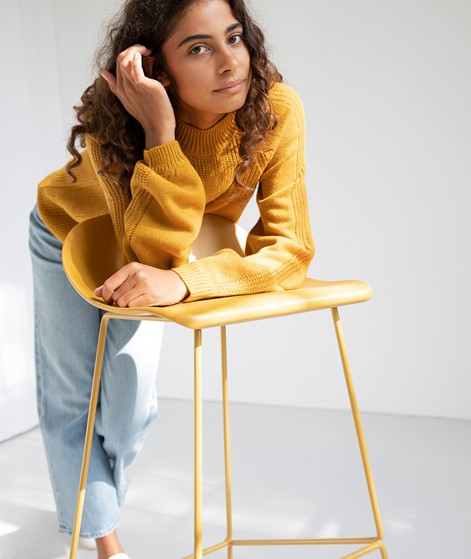 VILA Vioa Pullover gelb
