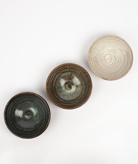 MADAM STOLTZ Stoneware Bowl grün