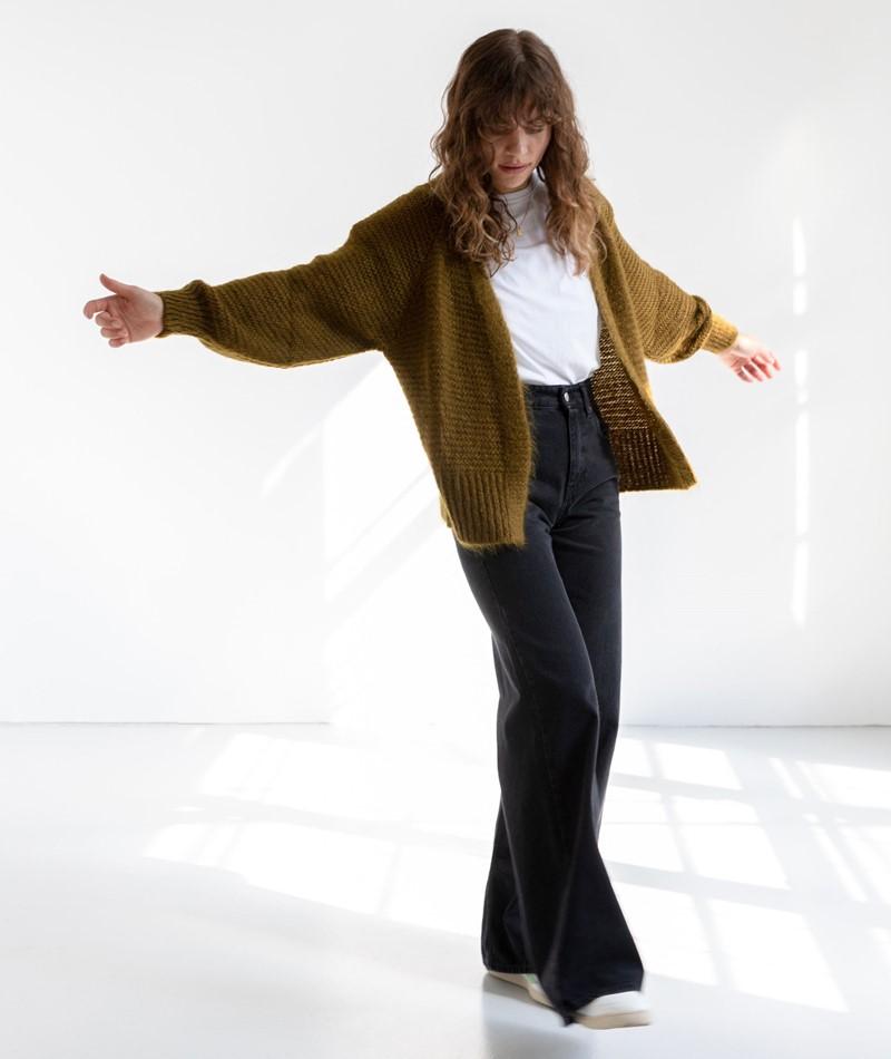 FRNCH PARIS Lima Cardigan khaki