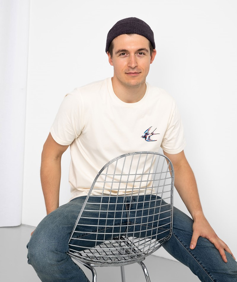 OLOW Colorfull Bird T-Shirt weiß