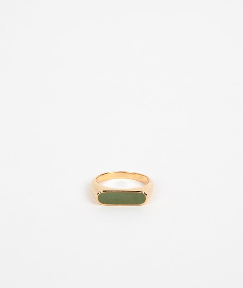 KAUF DICH GLÜCKLICH Emaille-Ring grün
