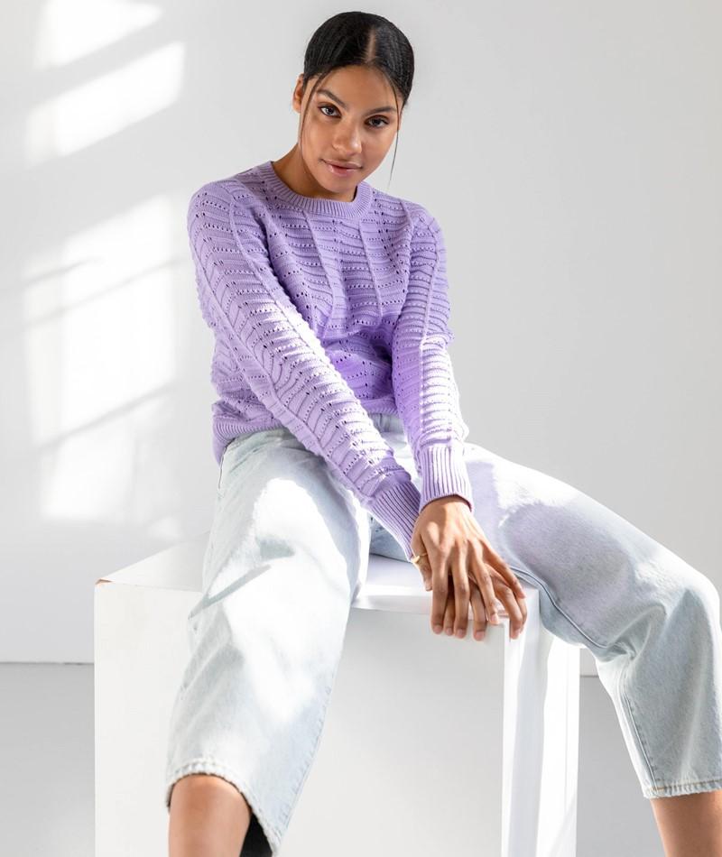 VILA VIJama L/S Pullover lila