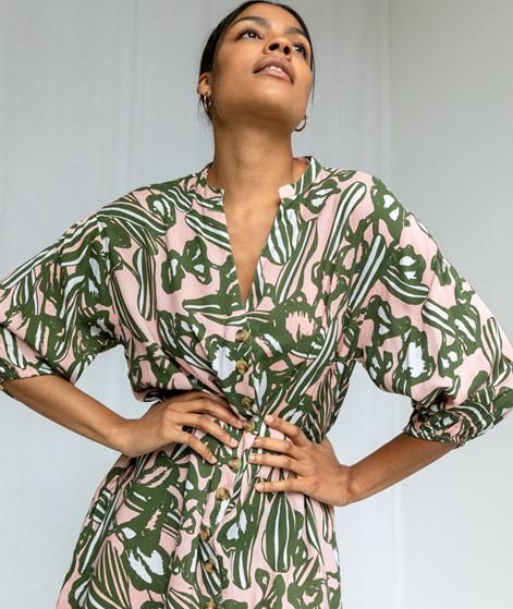 NATIVE YOUTH Vera Kleid gemustert