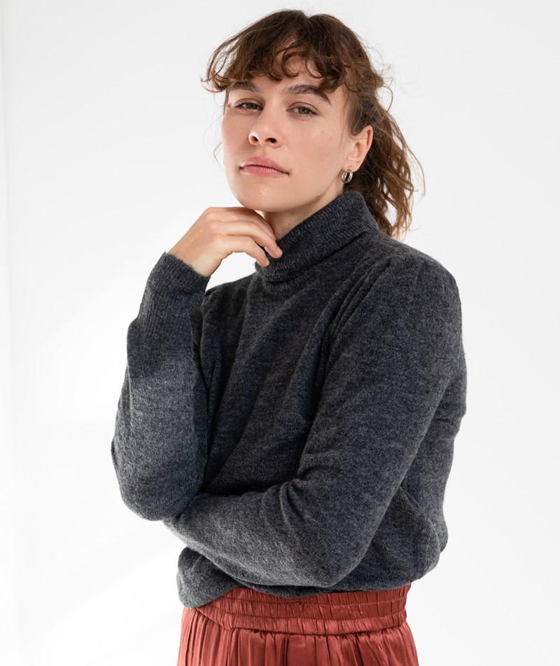 VILA VIEshy Pullover grau