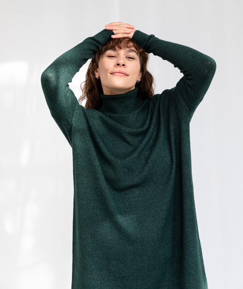 VILA VIRil Rollneck Kleid grün