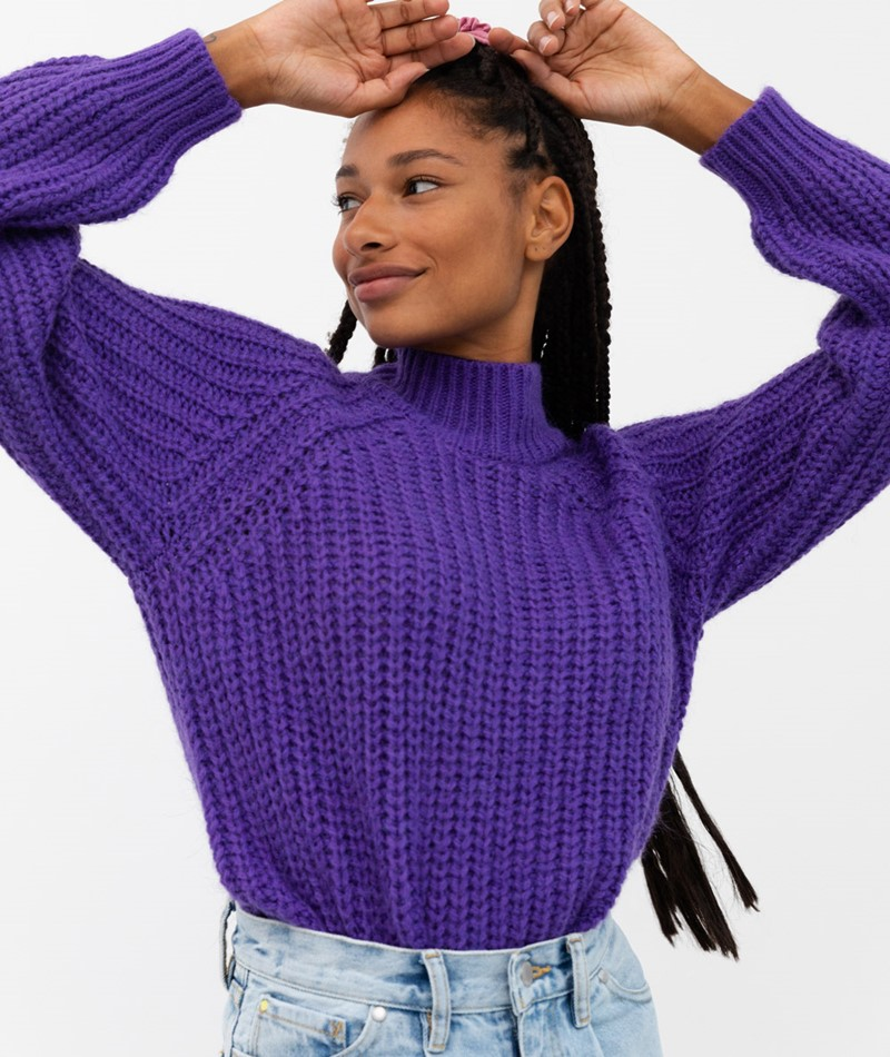 YAS YASUltra Pullover lila