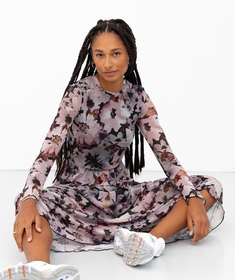 MOVES Marisan Maxi Kleid gemustert