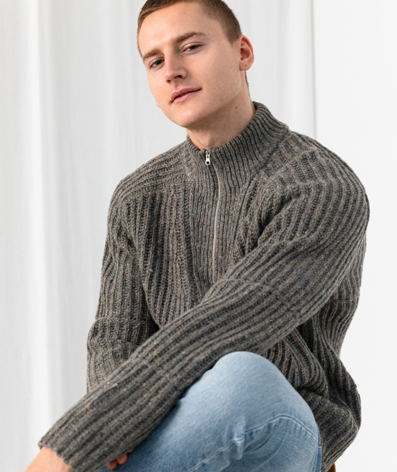 NOWADAYS Cosy Donegal Pullover braun